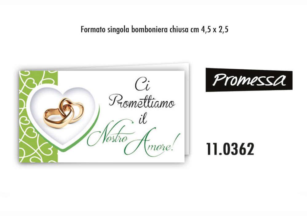 Bigliettini Bomboniere Promessa Di Matrimonio.Biglietti Per Promessa