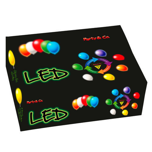 Box Led Multicolore per Palloncini 50 Pz
