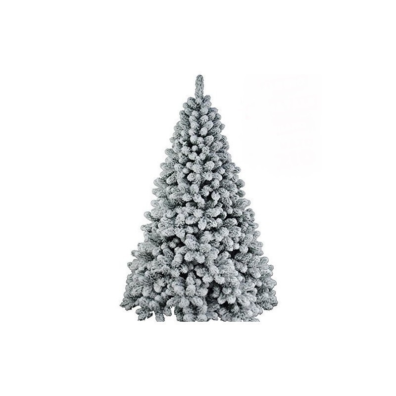 Albero Di Natale H 240.Albero Di Natale Uragano Innevato H 240 Cm 1408 Rami