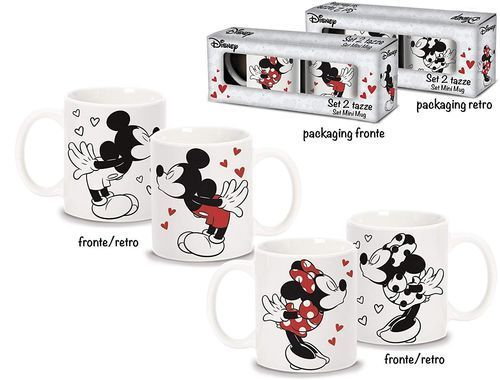 Set 2 Tazze Mickey & Minnie Love