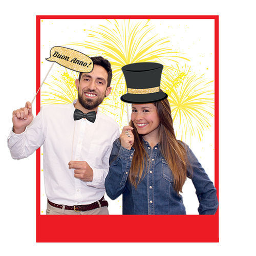 Photo Booth Buon Anno 8 pz
