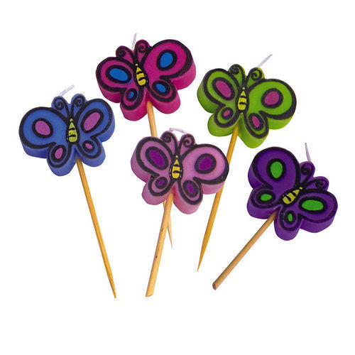 Candeline Picks Butterfly 5 pz