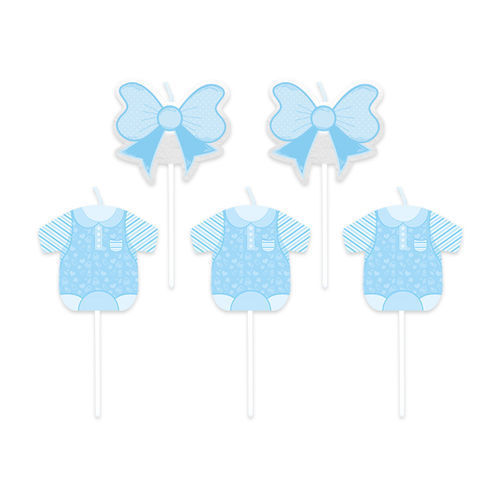 Candeline Picks Baby Boy 5 pz 8 cm H