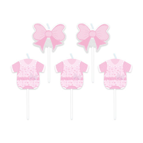 Candeline Picks Baby Girl 5 pz 8 cm H