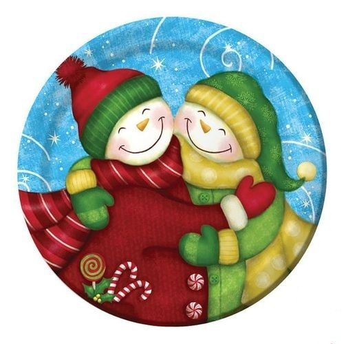 Piatti Wintertime Greetings 8 pz - Ø 17,4 cm