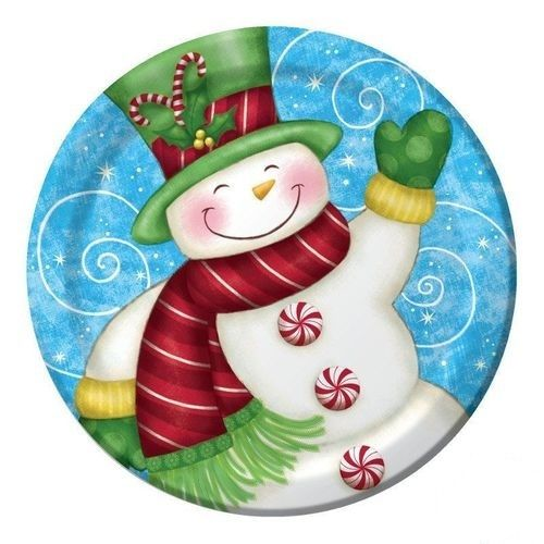 Piatti Wintertime Greetings 8 pz - Ø 22,2 cm