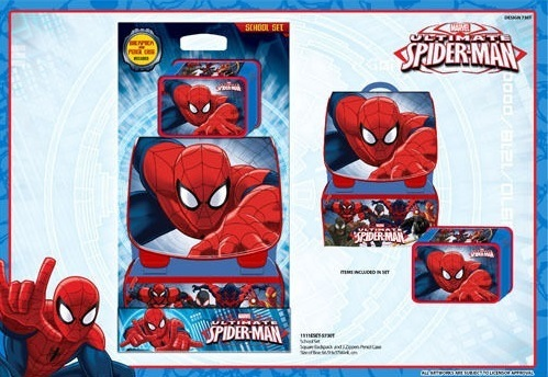 School Pack Zaino+Astuccio Spiderman