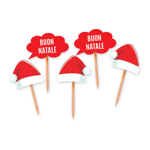 Picks Sagomati Natale 25 pz