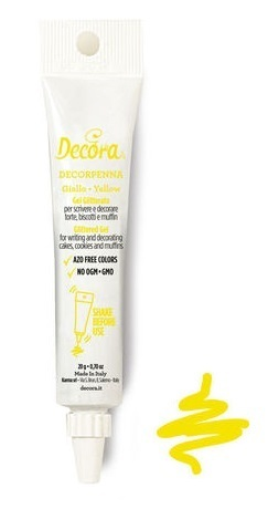 Decorpenna Gel Glitterato Giallo 20 gr