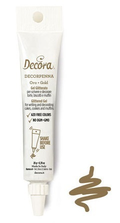 Decorpenna Gel Glitterato Oro 20 gr