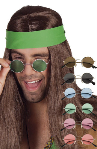 Occhiali Unisex da Sole Tondi John Hippie Adulti Colori Assortiti