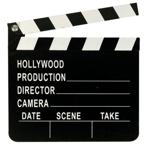 CIAK in legno HOLLYWOOD 18x20 cm