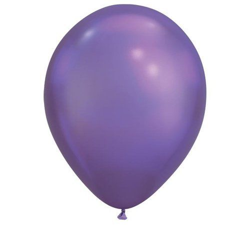 Palloncini in Lattice Cromati 11'' 28 cm Viola 100 pz