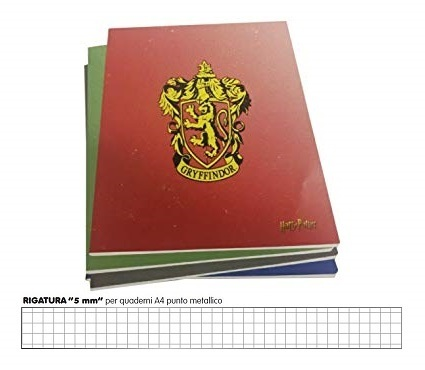 Maxi Quaderno a Quadri A4 Harry Potter 5 mm Colori Assortiti 1 pz