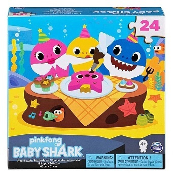 Baby Shark Puzzle 24 pz in Legno