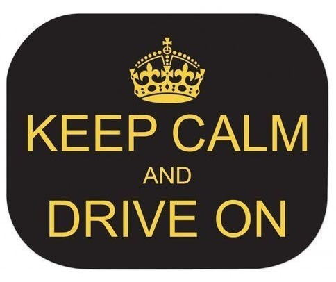 2 Tendine Parasole 44x35 cm Keep Calm and Drive On