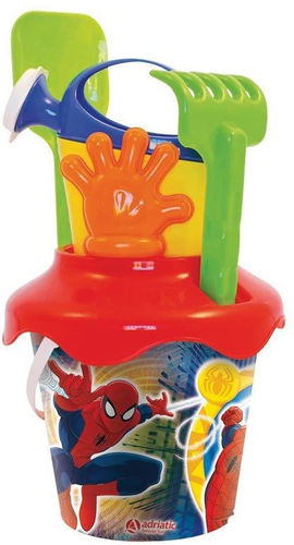 Set Mare Secchiello diam 18 cm Spiderman