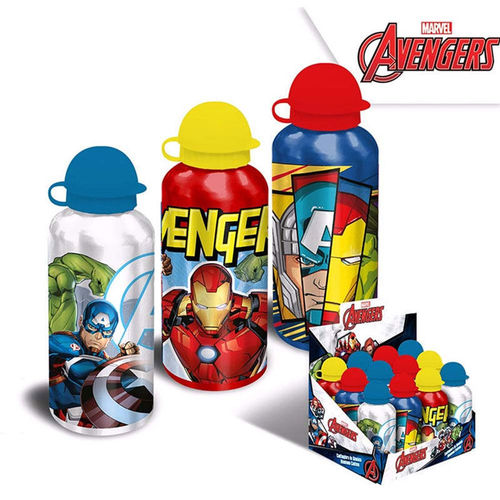 1 Borraccia in Alluminio 500 ml Avengers Colori Assortiti