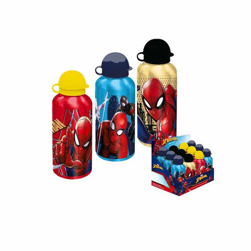 1 Borraccia in Alluminio 500 ml Spiderman Colori Assortiti